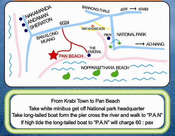 Map Of P.A.N Beach